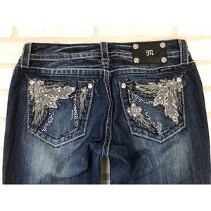 Miss Me Distressed Boot Cut Jeans 29